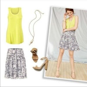 CAbi Limited Release Flirt Skirt Floral Cornflower